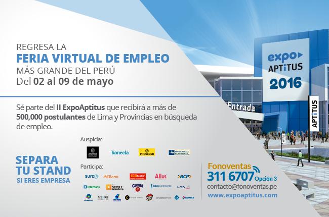 Expoaptitus 2016 todos los detalles de esta feria virtual for Ina virtual de empleo