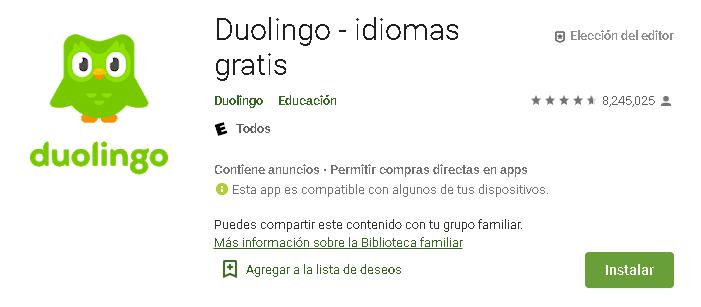 descarga Duolingo